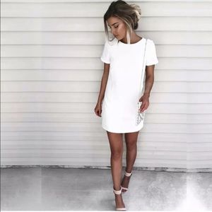 Lulus Shift and Shout Ivory Dress
